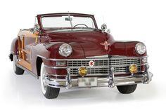 "1948 Chrysler New Yorker ""Highlander"" convertible.it had that marvelous plaid upholstery. Chrysler Cars, Chrysler 300, Vintage Cars, Antique Cars, Wooden Wagon, Chrysler New Yorker, Cars Usa, First Car, Expensive Cars"