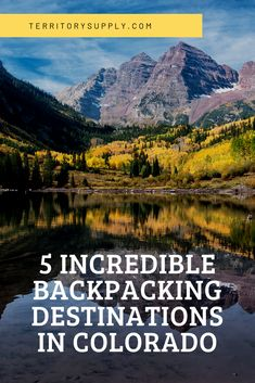 Colorado is a mecca for mountain adventures. There are so many epic places to plan a trip, it's hard to know where to start. Fortunately, we've compiled a list of 5 top Colorado backpacking destinations that are sure to make your trip unforgettable. Colorado Backpacking, Backpacking Trails, Colorado Trail, Colorado Mountains, Hiking Trails, Bergen, Solo Travel, Travel Usa, Travel Info