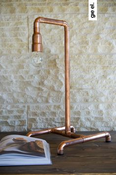 Copper table lamp Gie El