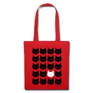 Love cats then you will love this bag covered with cat faces.