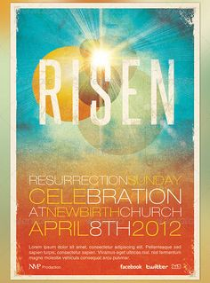 Risen Church Event Flyer and CD Template by loswl, via Flickr graphic design