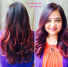 Red Ombre! By Jamie Rivera at Red Stella Salon