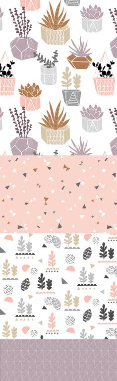New wall paper design illustrations surface pattern ideas Design Textile, Design Floral, Textile Patterns, Serger Patterns, Geometric Patterns, Textiles, Pretty Patterns, Beautiful Patterns, Design Tutorials