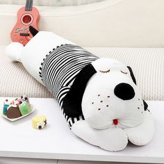 Plush toy big head dog Large lovers dog doll girls sleeping pillow birthday gift