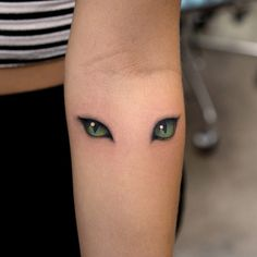 Cat Eyes Tattoo by Georgia Grey