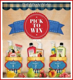 BATH & BODY WORKS SWEEPS & INSTANT WIN GAME MAKE SURE YOU ENTER DAILY! ENDS 3/28