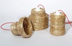 Robert Grimshaw uses medieval bee-hive constructed from coils of straw to produce lampshades Straw Projects, Lampshades, Conservation, Shelter, Medieval, Furniture Design, Artisan, Bee, Designers