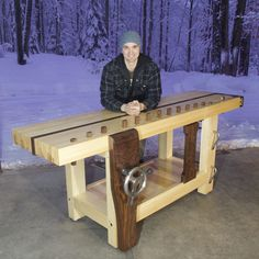 Split-Top Roubo Workbench - The Wood Whisperer Guild Woodworking Workshop, Woodworking Bench, Maple Tree, Shop Layout, Joinery, Wood Projects, Workbench Ideas, Workbenches, Wood Working