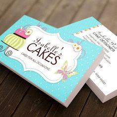 Customizable Whimsical Bakery Business Card