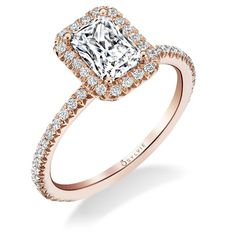 Emerald Cut Diamond Engagement Ring by Designer Sylvie - Midtown Jewelers Reston, VA