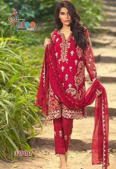 Red Georgette Designer Salwar Kameez...@ fashionsbyindia.com #saree #designs #indian #fashion #womens #style #cloths
