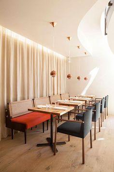 Modern Japanese Restaurant in a Leo von Klenze building at Munich´s city center.