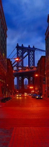~~Brooklyn Twilight, Manhattan Bridge, New York by Peter Lik~~ Manhattan Bridge, Brooklyn Bridge, Brooklyn Heights, Places To Travel, Places To Visit, Peter Lik, Cities, Voyage New York, I Love Nyc