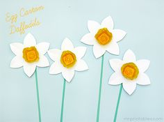 Egg Carton Daffodils - Mr Printables