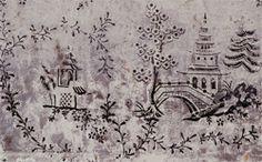 Pagoda design wallpaper