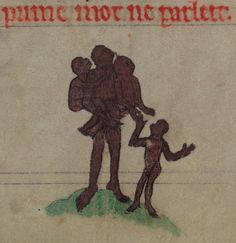 Monkey Family. Book of Hours, about 1300. W. 102, f. 76. The Walters Art Museum.