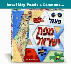 Israel Map Puzzle a Game and Toy for Kids in Hebrew by Pashoshim. Let your kids learn and recognize the Israeli map and its cities with the Israeli map puzzle game. The names of the cities in Israel are written in hebrew on the map. The Israeli map puzzle includes: 84 pieces Poster A fun and educational Game for kids!.