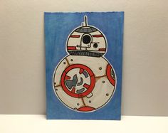"2.5"" x 3.5"" Star Wars BB-8 Sketch Card"