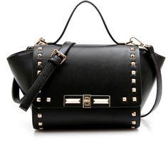 Mini Trapeze Satchel Bag ($45) ❤ liked on Polyvore featuring bags, handbags, mini purse, miniature purse, mini bag, satchel handbags and satchel purse