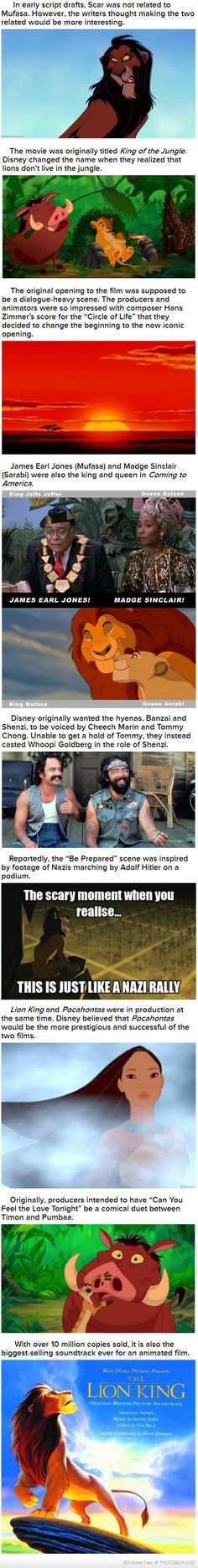 Amazing Facts About The Lion King...and I realized the Nazi thing when I was 8.