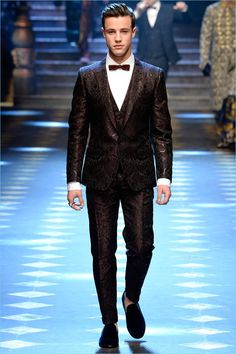 Cameron Dallas opens up Dolce & Gabbana's fall-winter 2017 men's runway show.