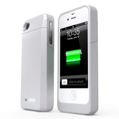 UNU DX WHITE PROTECTIVE BATTERY CASE FOR IPHONE 4 & 4S