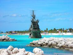 Disney's #CastawayCay. Pirates of The Caribbean Replica Ship. #TheBahamas #travel