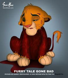 Furry Tale: Skinned Disney Characters Protest The Fur Industry | Bored Panda
