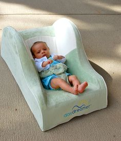 Sweet newborn in her brand new Daydreamer Sleeper! Perfect for naps, so comfy, soft, and sturdy. Best new baby product out there!