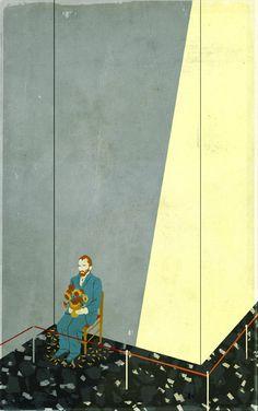none is visiting museum anymore,Emiliano Ponzi illustration