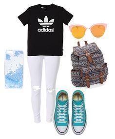 """Back to school 2016✨"" by beatricedigregorio on Polyvore featuring moda, Aéropostale, adidas Originals e Skinnydip"
