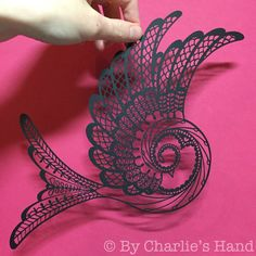 Lace Swallow papercut by By Charlie's Hand Charlotte Trimm