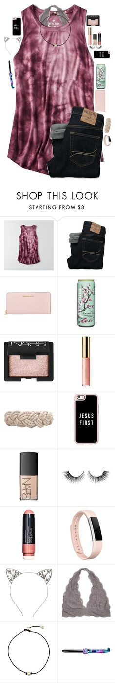 """RTD pleaseeeeeeeee"" by maxilicious ❤ liked on Polyvore featuring American Eagle Outfitters, Hollister Co., MICHAEL Michael Kors, NARS Cosmetics, tarte, Swell, Casetify, Rimini, Smashbox and Fitbit"