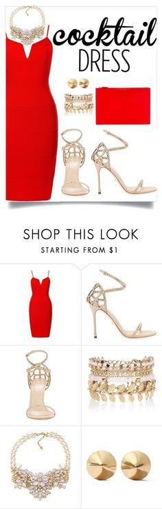 """night out"" by moonlightprinces on Polyvore featuring Sergio Rossi, River Island, Carolee, Eddie Borgo, Givenchy, outfit, NightOut, dress and cocktails"