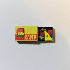 For Sale on 1stdibs - Camp Original Collage Vintage Match box Individuallyhand cut Good Art Reviews Si, Mixed Media by Hannah Battershell. Offered by Flat Space Art.