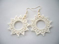 Crochet and Beaded Snow White Cotton Dangling by CraftsbySigita,