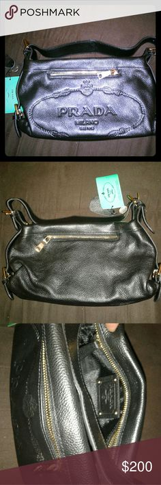 Prada womans purse handbag Brand new never used Sits in my closet 100% authentic My loss is your gain Authenticity card enclosed Prada Bags Crossbody Bags