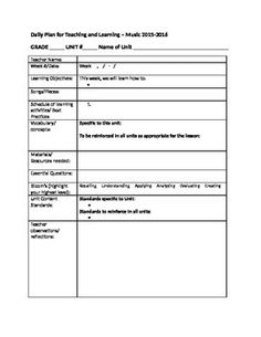 AllYear Lesson Plan Template Bundle  Arkansas Elementary Music