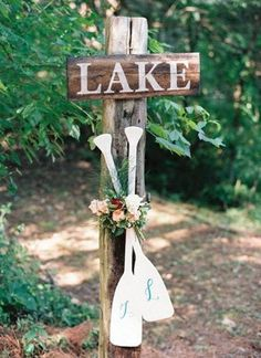 Obsessing over custom oar decor for a lake wedding! These unique monograms are perfect fro a nautical loving couple! Summer Southern Wedding Inspiration at Historic Cedarwood Dock Wedding, Fishing Wedding, Lakeside Wedding, Summer Wedding, Rustic Wedding, Dream Wedding, Trendy Wedding, Wedding Things, April Wedding