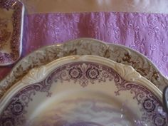Lavender & Olive transferware