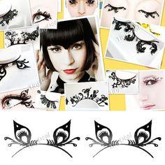 A Pair of Artistic Fiber Papercutting Type False Eyelash