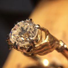 Hello diamond. #diamondring #hands #friday #engaged