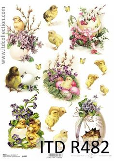 Ricepaper/Decoupage paper, Scrapbooking Sheets Vintage Bright Easter in Crafts, Cardmaking & Scrapbooking, Decoupage Decoupage Glue, Paper Napkins For Decoupage, Decoupage Vintage, Easter Parade, Easter Printables, Marianne Design, Vintage Easter, Easter Crafts, Easter Eggs