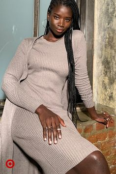 Feel put-together in easy spring outfits, like this ribbed-knit set in a neutral hue. Beautiful Dark Skinned Women, Beautiful Black Girl, African Beauty, African Fashion, Black Girl Magic, Black Girls, Mocha, Beautiful People, Beautiful Women