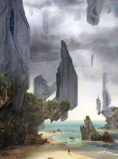 Halo 4 Concept Art A.J. Trahan