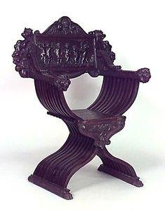 Renacimiento italiano silla savonarola renacimiento - Muebles italianos clasicos ...