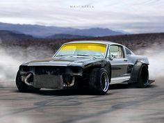 67' Ford Mustang Fastback Missle, Mikołaj Majcherek on ArtStation at…