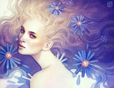 september by escume - Digital Painting by Anna Dittmann  <3 <3