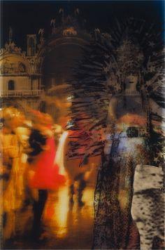 TJ Wilcox.  Casati's Masque, 2008 acetate, colored gels, gold leaf on plexiglass, 91.4 x 61 cm Courtesy collection Ettore Molinario, Milan