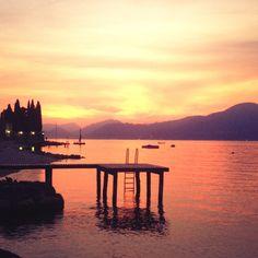 #sunset time #gardalake #baiastancabeachbar